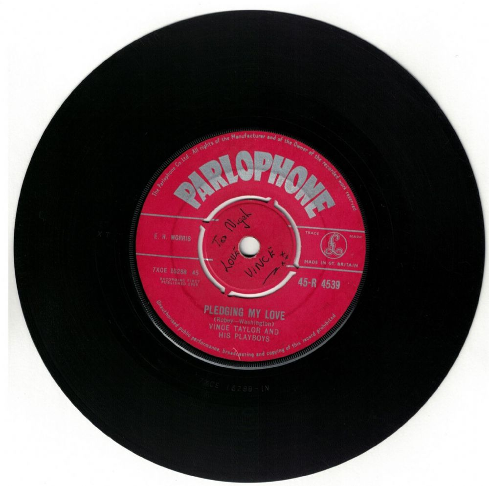 Genuine 1959 Parlophone Vince Taylor And His Playboys Pledging My Love C W Brand New Cadillac